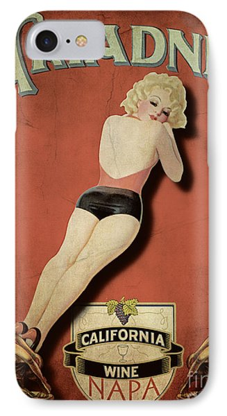 Vintage Wine Ad II IPhone Case by Cinema Photography