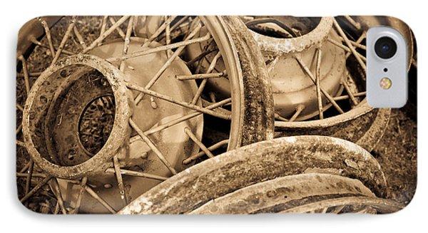 Vintage Wire Wheels Phone Case by Steve McKinzie