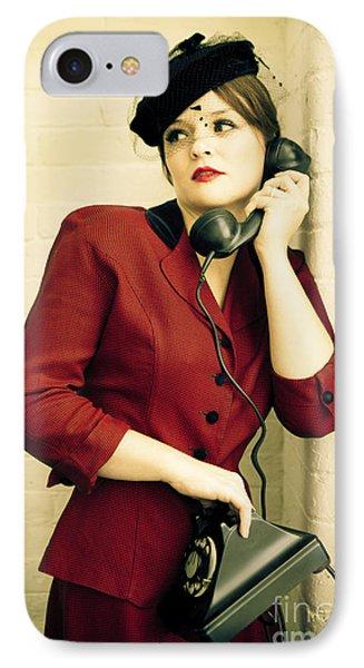Vintage Woman Phone Case by Diane Diederich