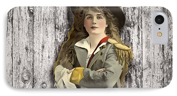 Vintage Woman In Uniform Phone Case by Peggy Collins