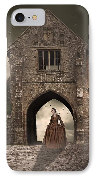 IPhone Case featuring the photograph Vintage Woman Standing Under Archway by Ethiriel  Photography