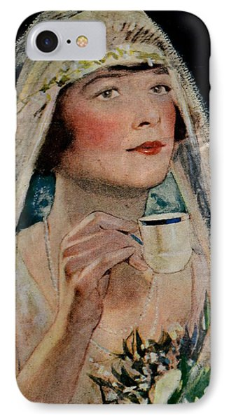 Vintage Woman With Tea IPhone Case