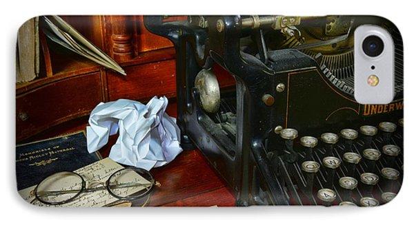 Vintage Writers Desk IPhone Case by Paul Ward