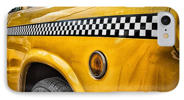 Vintage Yellow Cab IPhone Case