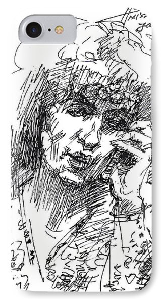 Viola On The Phone IPhone Case