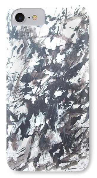 IPhone Case featuring the painting Violence by Esther Newman-Cohen