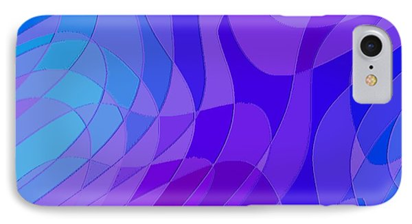 Violet Blue Abstract Phone Case by L Brown
