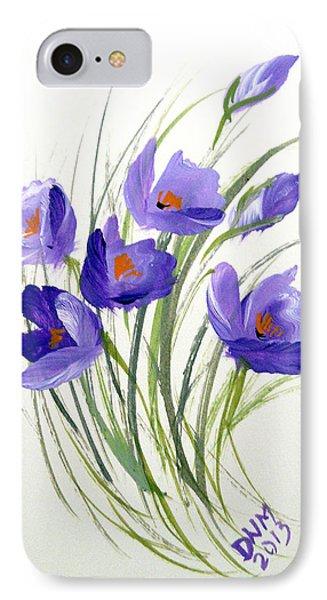 Violet Crocus IPhone Case by Dorothy Maier