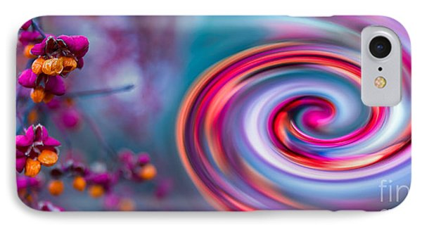 Violet Fall Blossom Collage Phone Case by Hannes Cmarits