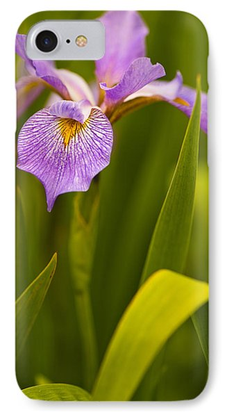 IPhone Case featuring the photograph Violet Iris by Phyllis Peterson