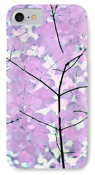 Violet Lavender Leaves Melody Phone Case by Jennie Marie Schell