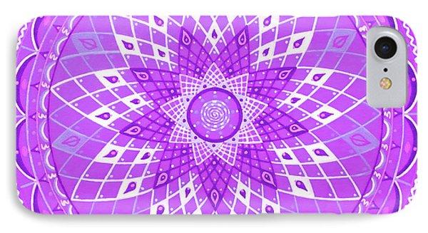 Violet Mandala Phone Case by Vlatka Kelc