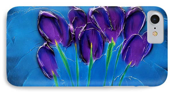 Violet Posy IPhone Case by Kenneth Clarke