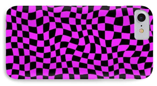 Violet Warped Polygons Phone Case by Daniel Hagerman