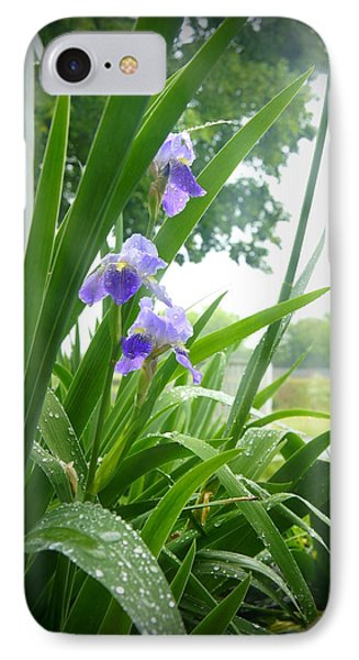 IPhone Case featuring the photograph Iris With Dew by Laurie Perry