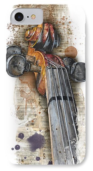 Violin 01 Elena Yakubovich IPhone Case by Elena Yakubovich