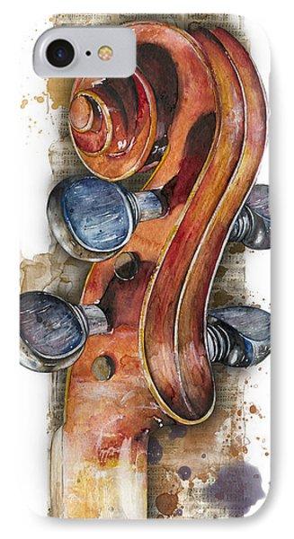 Violin 02 Elena Yakubovich IPhone Case by Elena Yakubovich