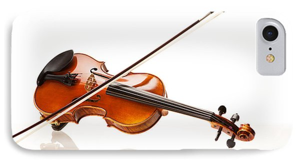 Violin And Bow IPhone Case by Wolfgang Steiner