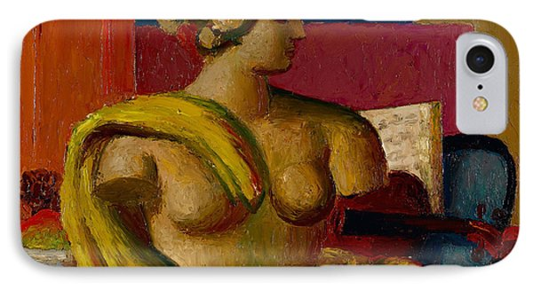 Violin And Bust Phone Case by Mark Gertler
