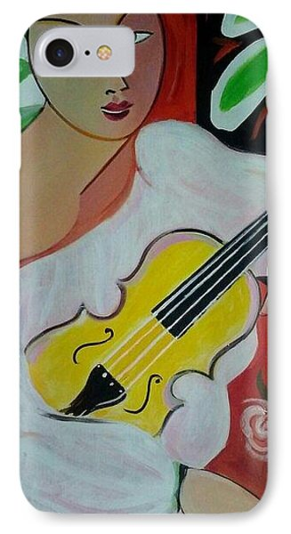 Violin At Rest Phone Case by Marlene LAbbe
