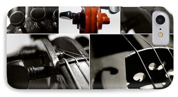 Violin Collage IPhone Case