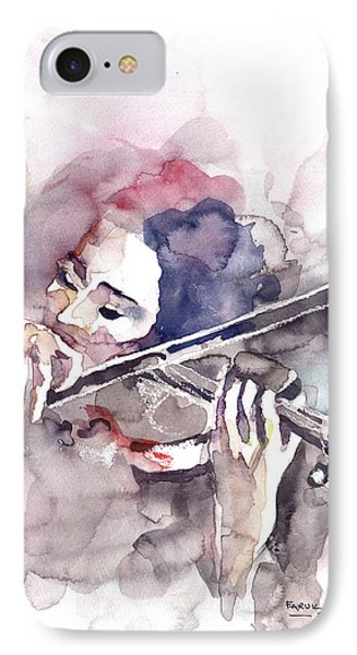 Violin Prelude IPhone Case by Faruk Koksal