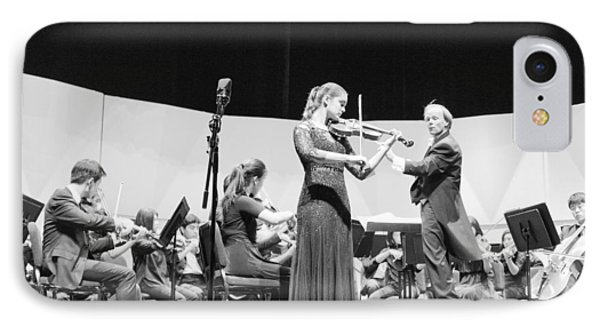 IPhone Case featuring the photograph Violin Solo Sdys by Hugh Smith