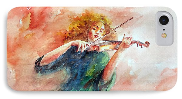 Violinist IPhone Case by Faruk Koksal