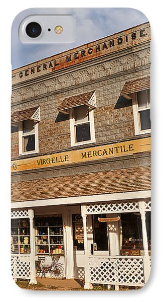 IPhone Case featuring the photograph Virgelle Mercantile by Sue Smith
