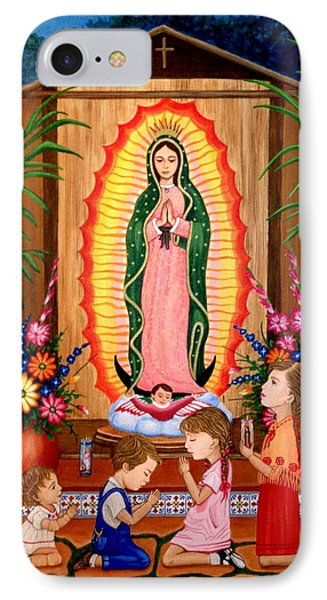 IPhone Case featuring the painting Virgen De Guadalupe #3 by Evangelina Portillo