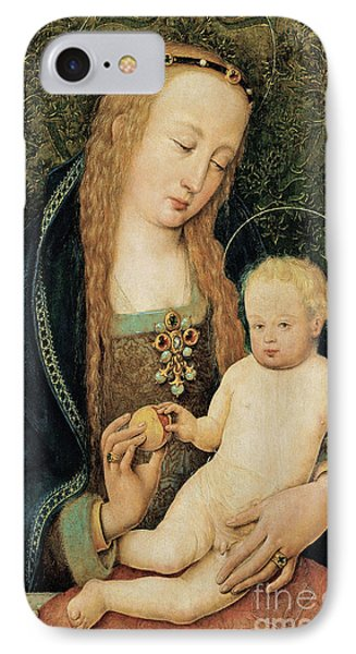 Virgin And Child With Pomegranate Phone Case by Hans Holbein the Younger