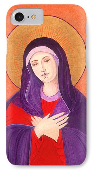 Virgin Mary 4 IPhone Case by Jacqueline Savidge