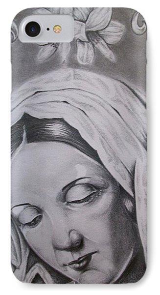 Virgin Mary Phone Case by Anthony Gonzalez