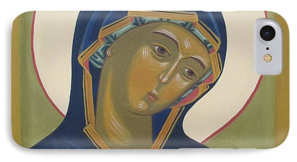 Virgin Mary Icon Phone Case by Seija Talolahti