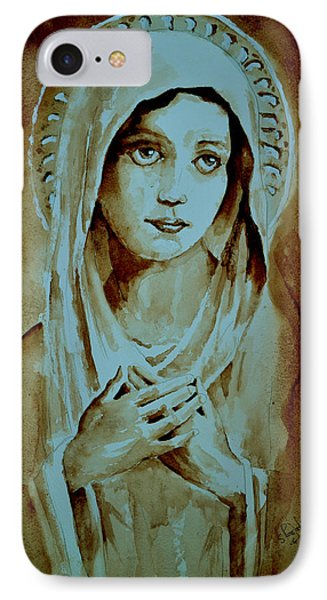 IPhone Case featuring the painting Virgin Mary by Steven Ponsford