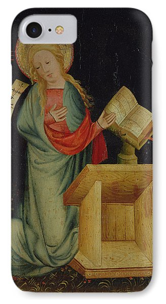 Virgin Of The Annunciation, From The Harvester Altar, C.1410 Tempera On Oak See Also 145253 IPhone Case by Master Bertram of Minden