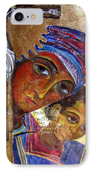 Virgin Of The Way And The Cross IPhone Case