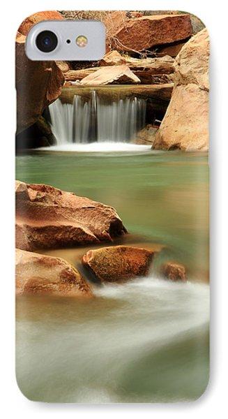 Virgin River Cascade IPhone Case by Eric Foltz
