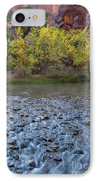 Virgin River In Fall - Zion IPhone Case by Sandra Bronstein