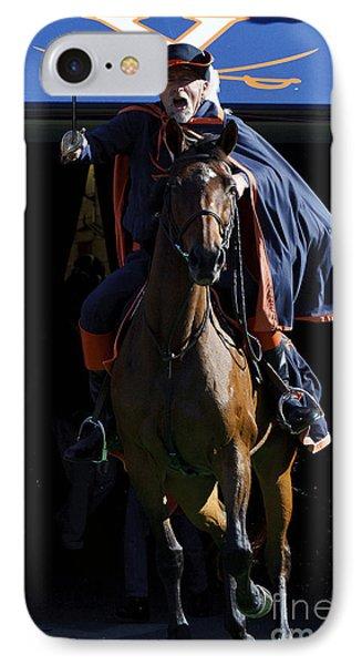 Virginia Cavaliers Cavman And Sabre IPhone Case by Jason O Watson