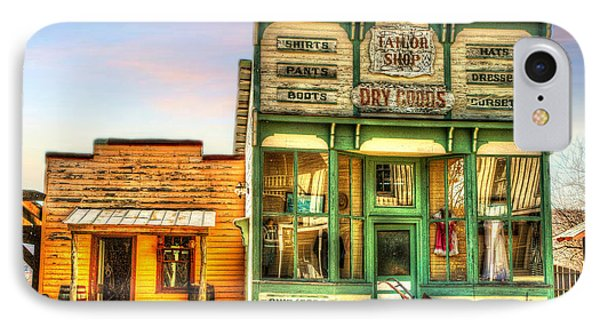 IPhone Case featuring the photograph Virginia City Dry Goods by Mary Timman