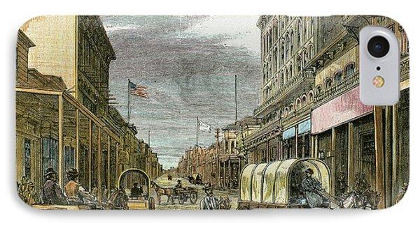 Virginia City In 1870 IPhone Case by Prisma Archivo