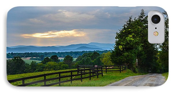 Virginia Road At Sunset Phone Case by Alex Zorychta