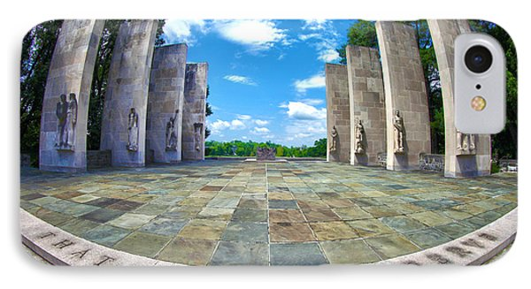 Virginia Tech War Memorial IPhone Case by Mitch Cat