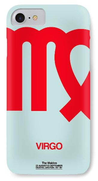 Virgo Zodiac Sign Red IPhone Case by Naxart Studio