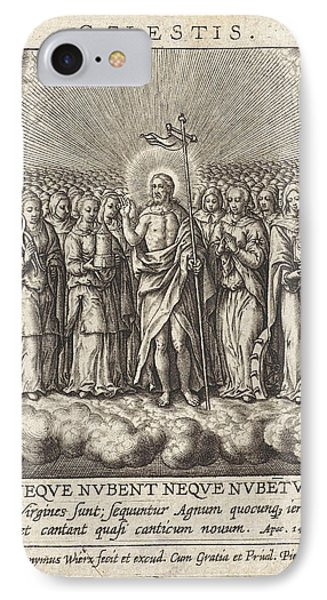 Virtue Of Heaven, Hieronymus Wierix IPhone Case by Hieronymus Wierix