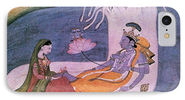 Vishnu And Lakshmi Float Across Cosmos IPhone Case