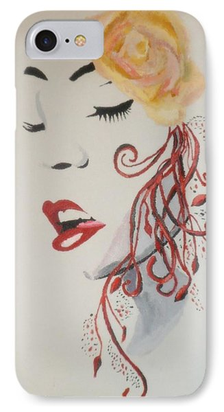 IPhone Case featuring the painting Vision In Silhouette by Cherise Foster