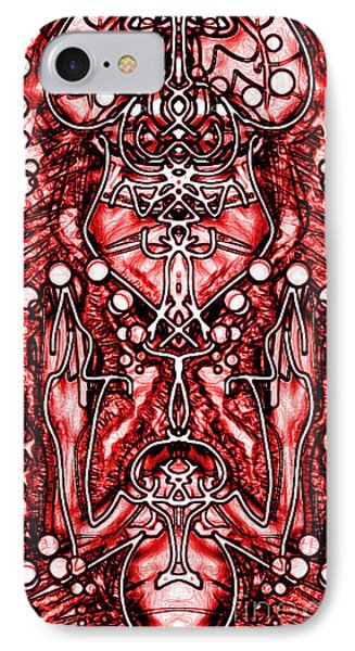 IPhone Case featuring the digital art Visionary 6 by Devin  Cogger