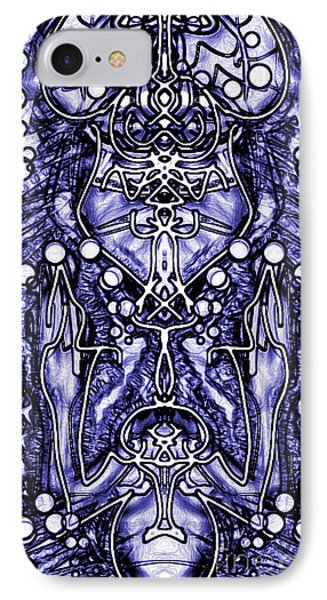 IPhone Case featuring the digital art Visionary 8 by Devin  Cogger
